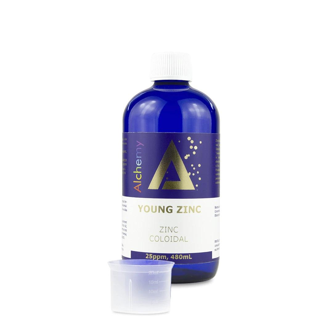Zinc coloidal Young Zinc 25 ppm, 480ml, Aghoras drmax.ro