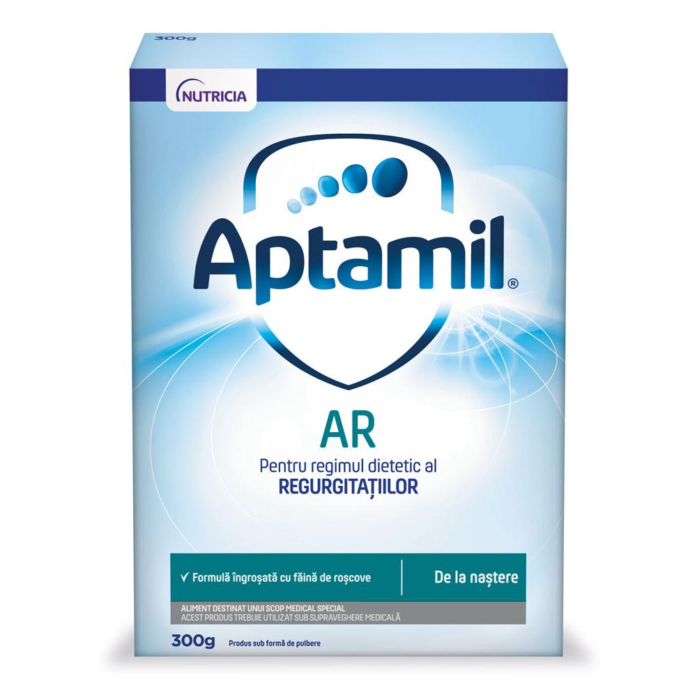 Lapte praf Nutricia Aptamil AntiRegurgitare, incepand de la nastere, 300 g, Nutricia drmax.ro