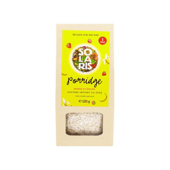Porridge banane si capsuni, 120g, Solaris drmax poza