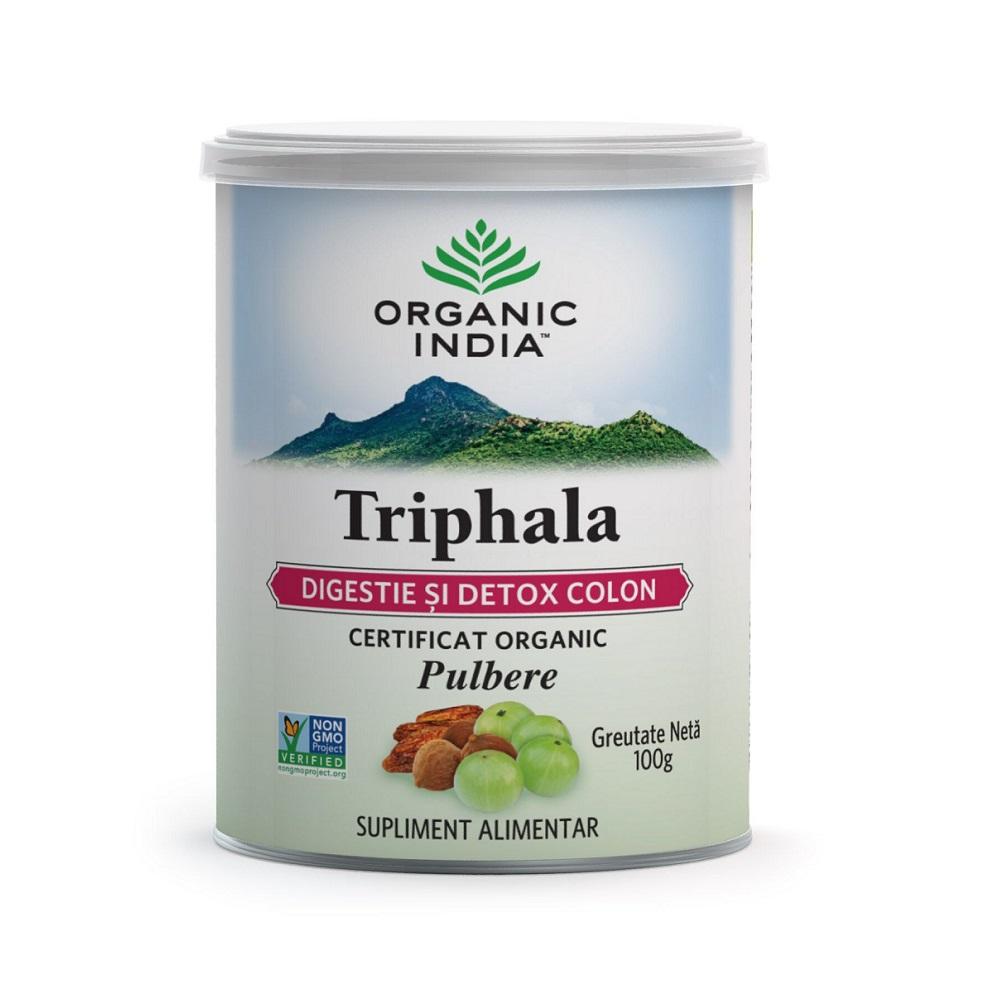 Triphala Digestie Detox Colon, 100g, Organic India drmax poza