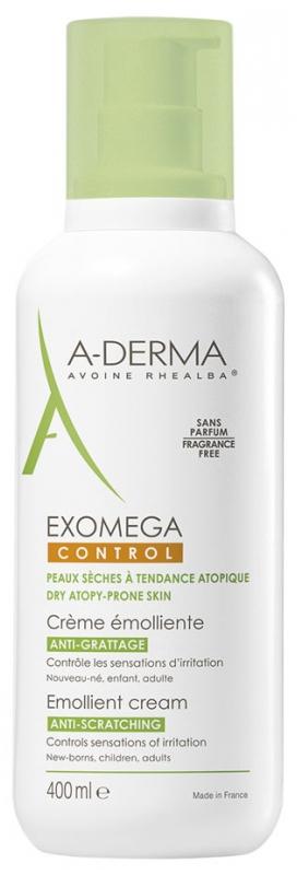 Crema emolienta Exomega Control, 400ml, A-Derma