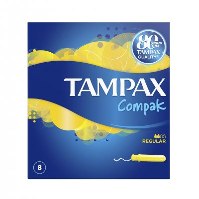 Tampoane Regular Single, 8 bucati, Tampax