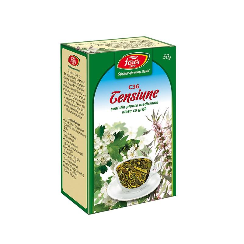 Ceai pentru tensiune C36, 50g, Fares drmax.ro