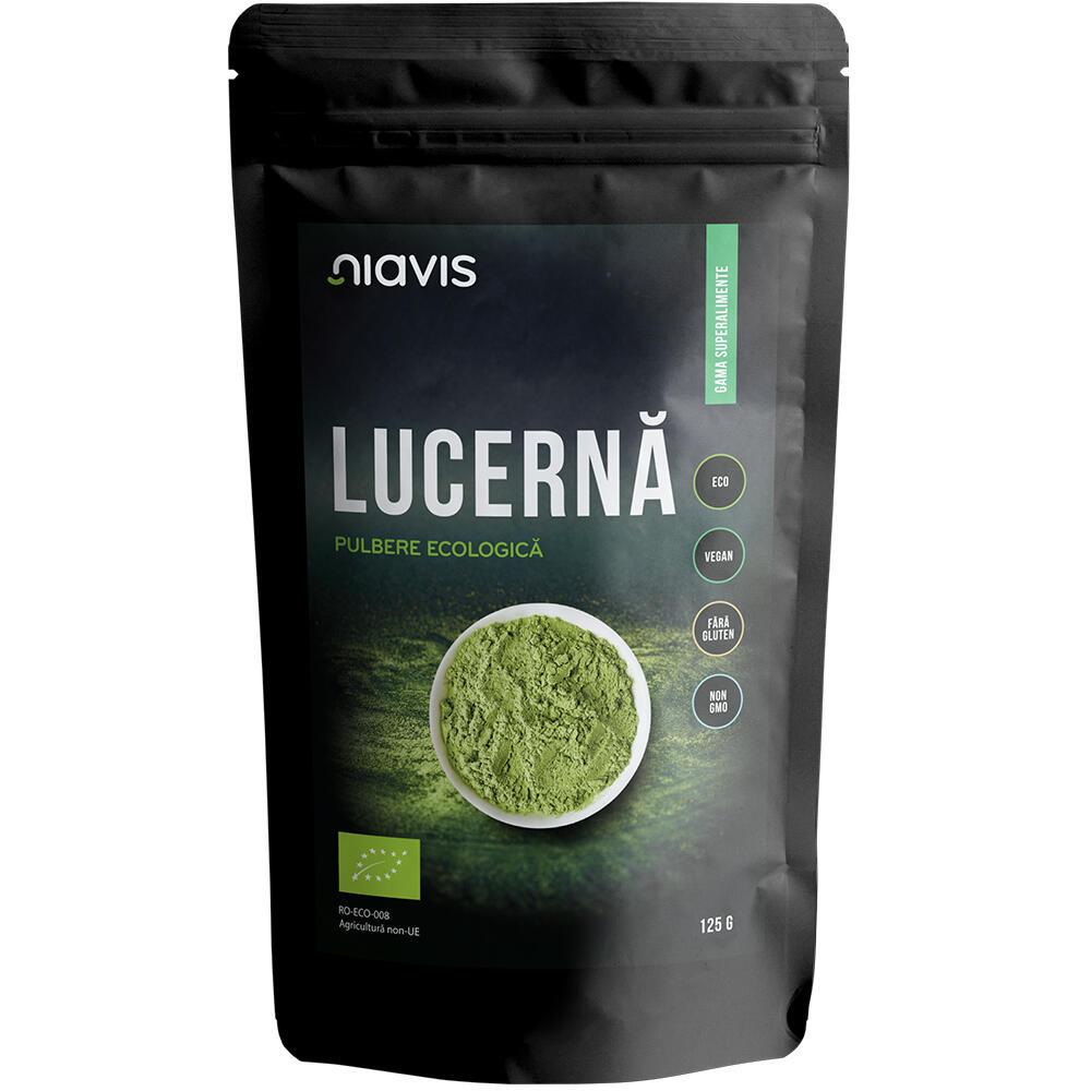 Lucerna (Alfalfa) Pulbere ecologica, 125g, Niavis imagine 2021 drmax.ro