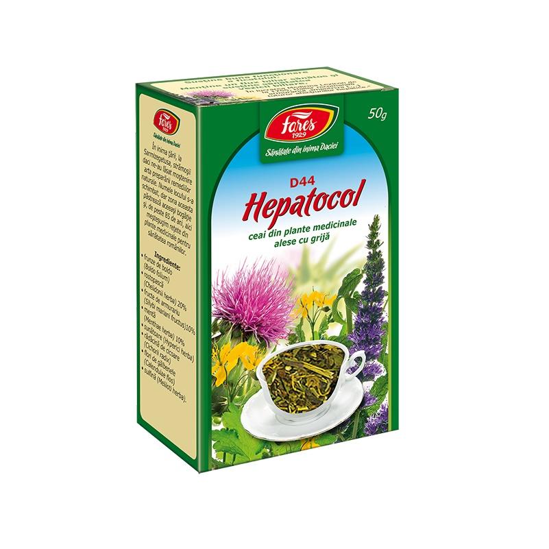 Ceai Hepatocol, 50 g, Fares la preț mic imagine