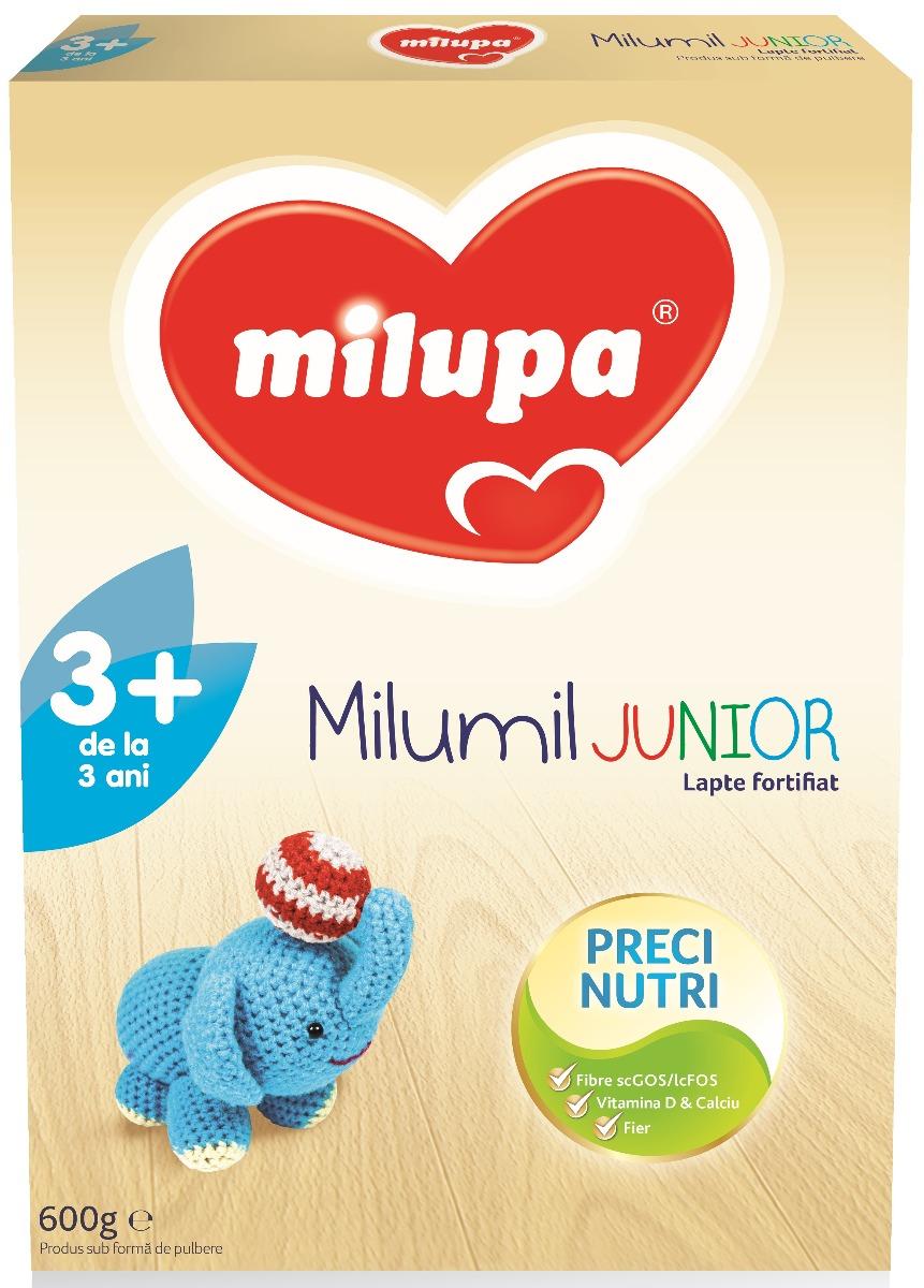 Milumil formula lapte fortifiat, + 3 ani, 600 g, Milupa