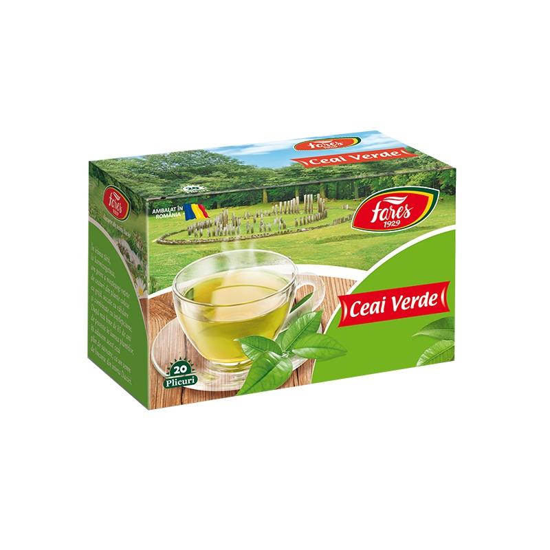 Ceai Verde, 20 plicuri, Fares drmax.ro
