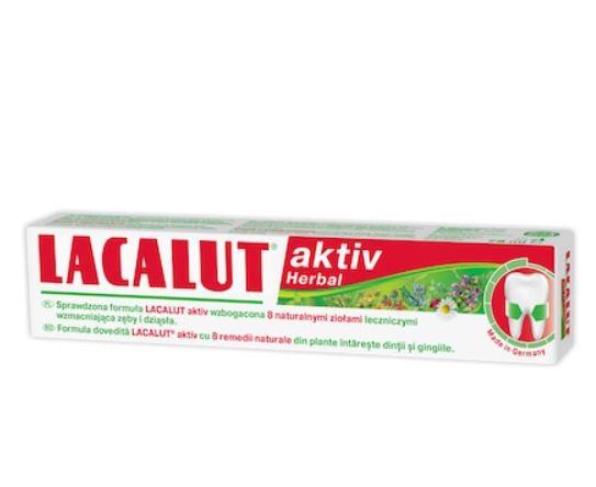 Pasta de dinti Aktiv Herbal, 75ml, Lacalut drmax.ro