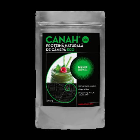 Pudra proteica de canepa ECO, 300g, Canah drmax.ro