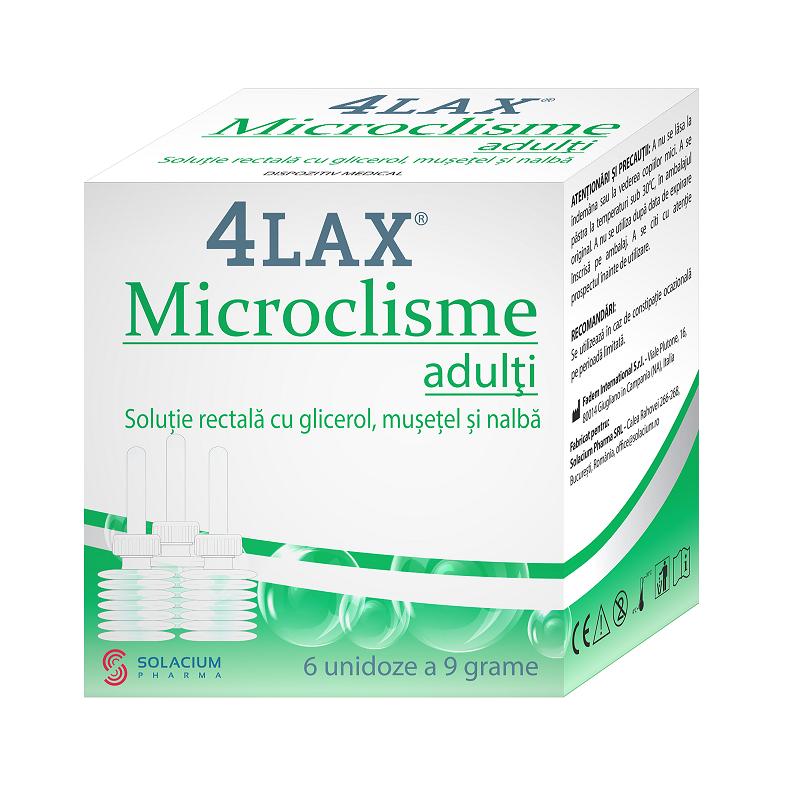 Microclisme pentru adulti 4Lax, 6 unidoze, Solacium la preț mic imagine
