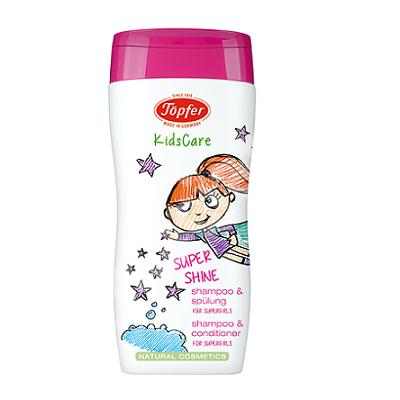Sampon si balsam pentru fetite Super Shine KidsCare, 200ml, Topfer drmax.ro
