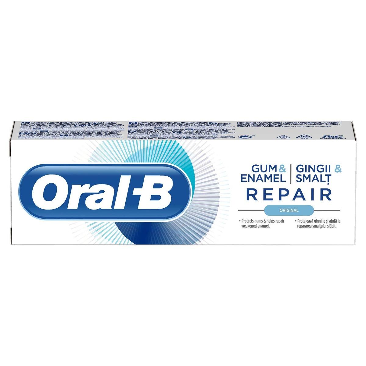 Pasta dinti Gum&Enamel Repair Original, 75ml, Oral-B drmax.ro