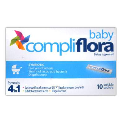 Compliflora Baby formula 4 in 1, 10 plicuri, Pharmex imagine produs 2021