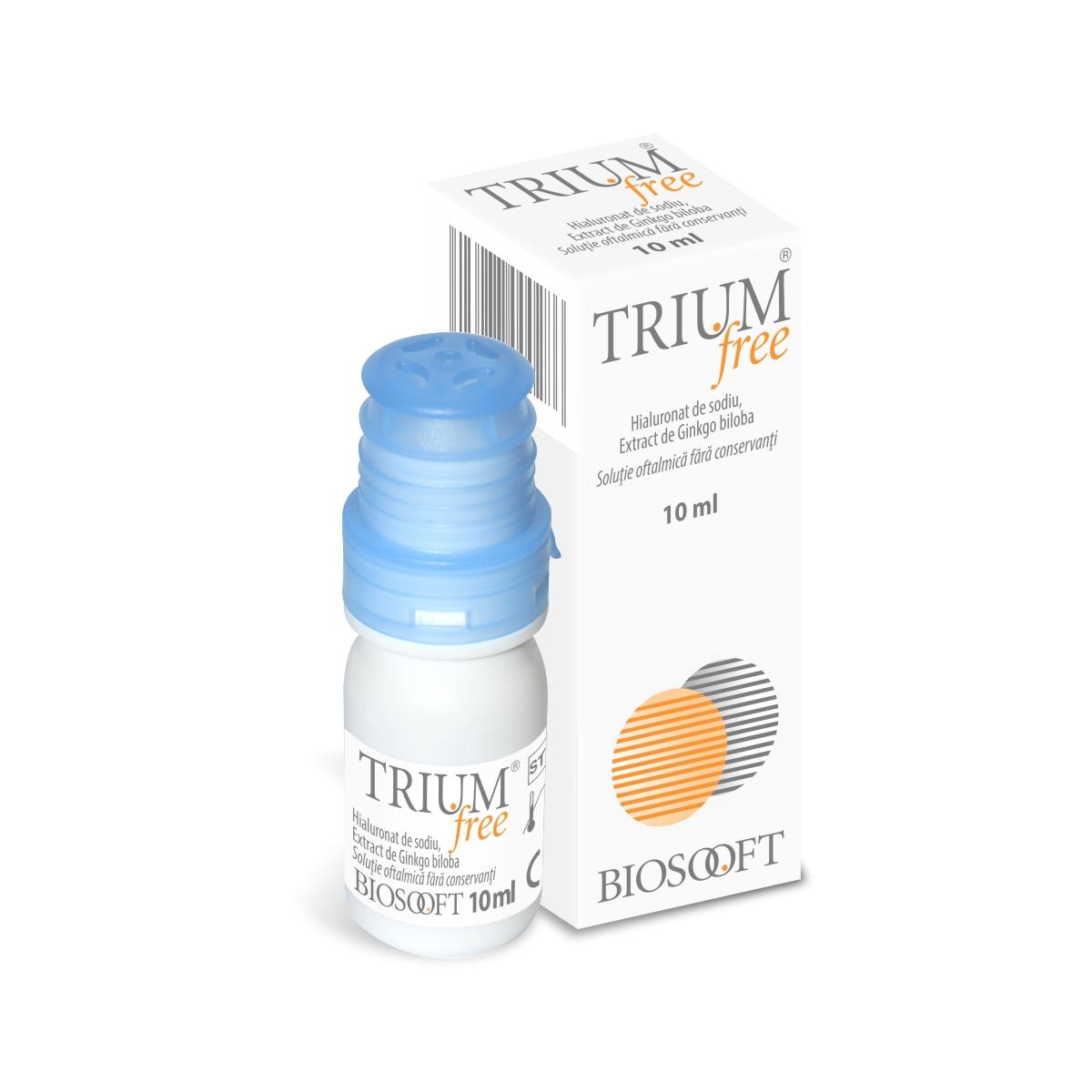 Trium free picaturi oftalmice, 10 ml, BioSooft drmax poza