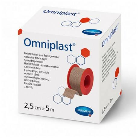 Plasture textil hipoalergen pe suport textil, 2.5cmx5m, o bucata, Omniplast