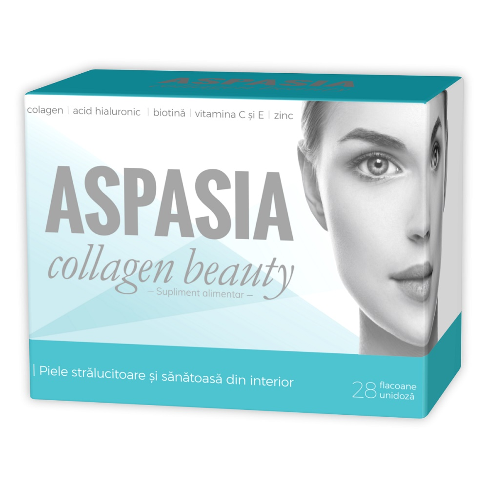 Aspasia Collagen Beauty, 28 flacoane, Zdrovit