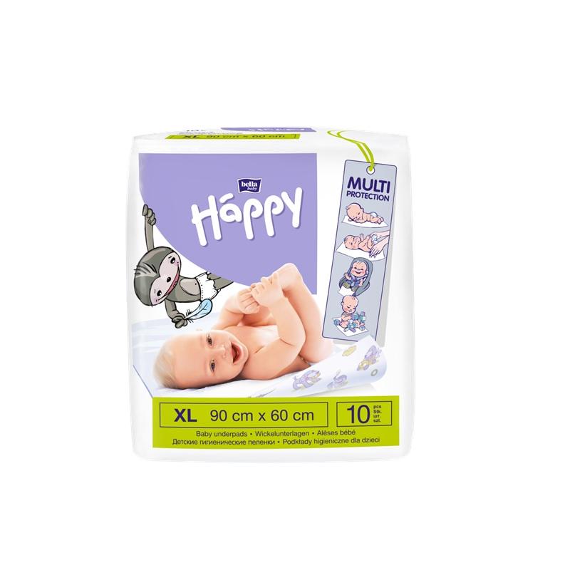 Aleze protectie pat Happy 90x60cm, 10 bucati, Bella Baby drmax.ro