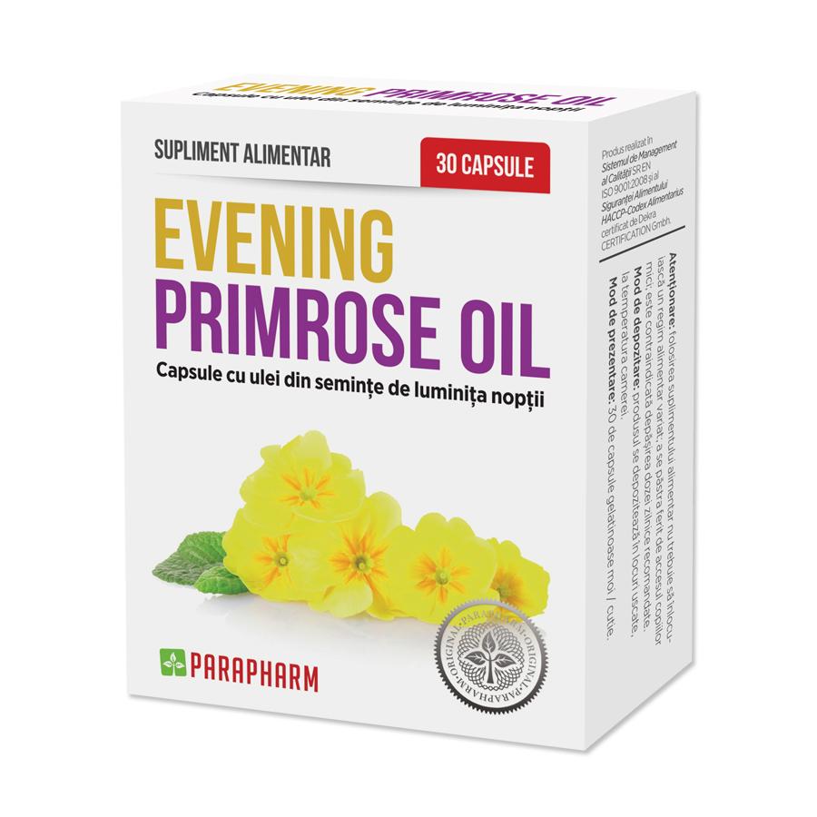 Evening Primrose Oil, 30 capsule, Parapharm drmax poza