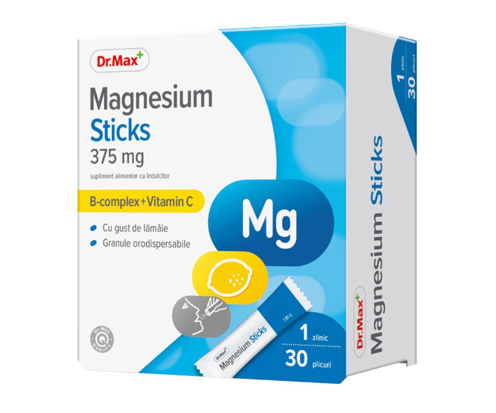 Dr.Max Magnesium Sticks 375mg, 30 pliculete orodispersabile imagine produs 2021