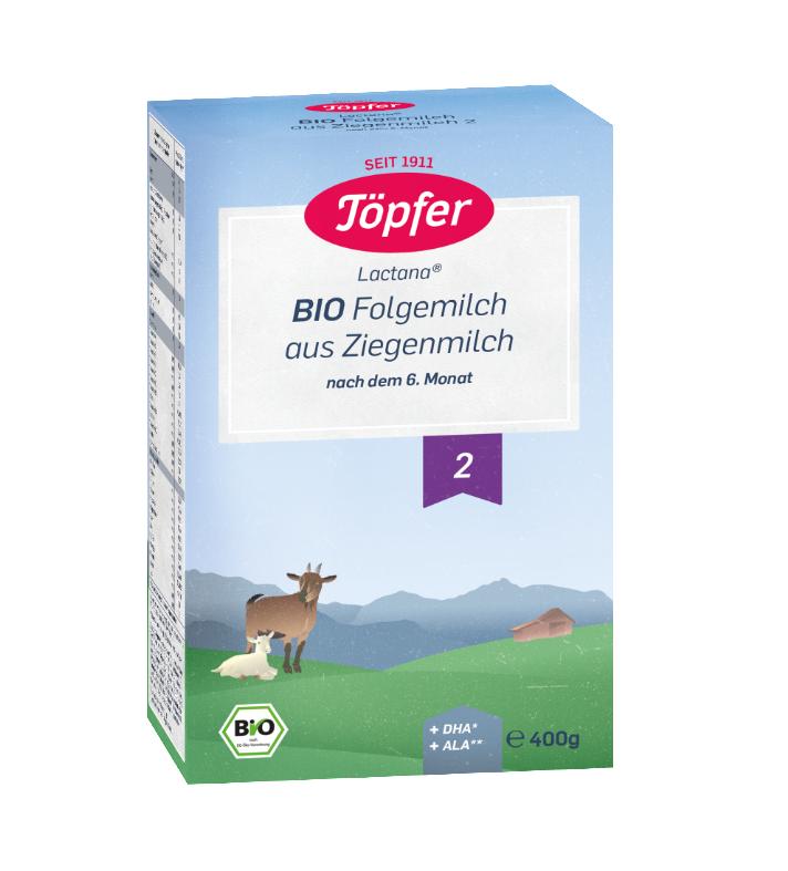 Lapte praf de capra Bio formula 2, 400g, Topfer