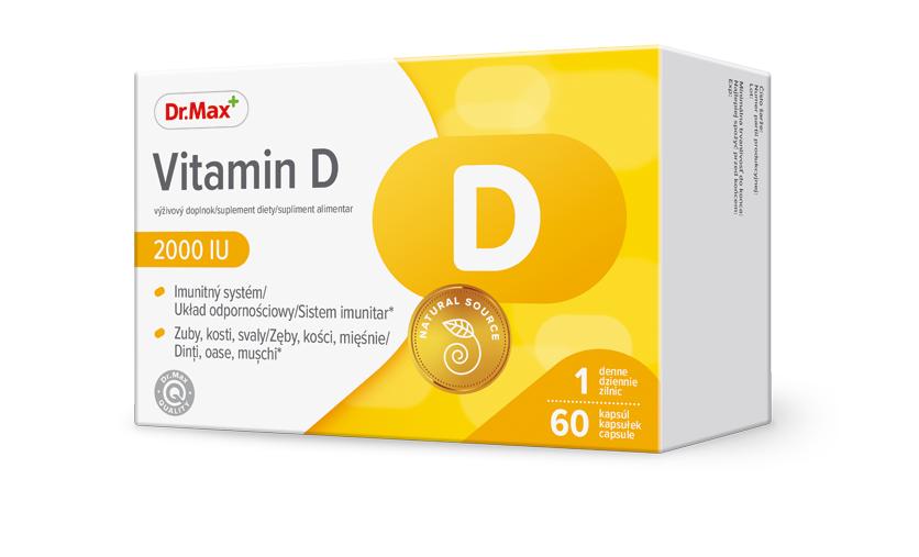 Dr.Max Vitamina D 2000UI, 60 capsule moi la preț mic imagine