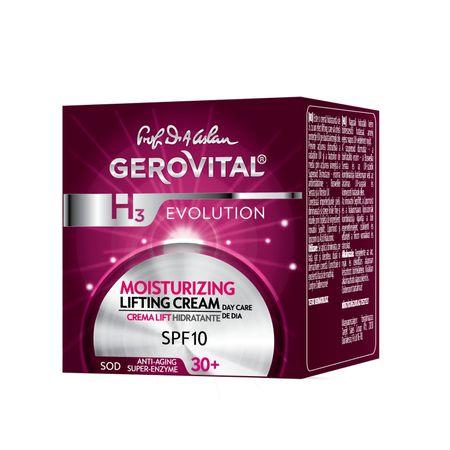 Crema de zi lift hidratanta SPF 10 H3 Evolution, 50ml, Gerovital