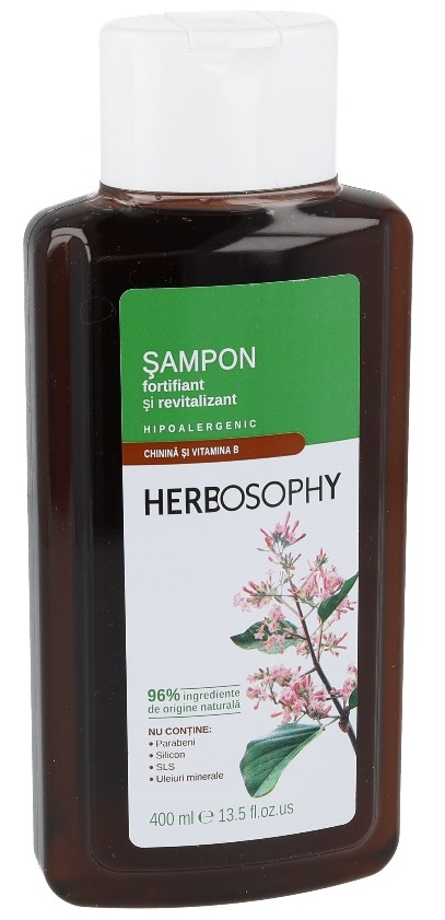 Herbosophy, Sampon cu extract de Chinina, 400ml