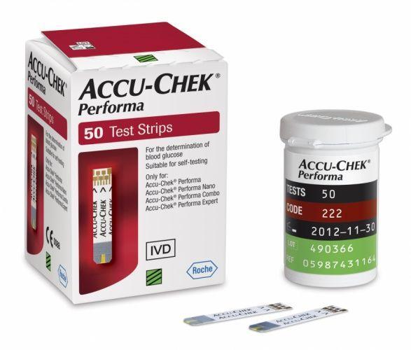 Teste glucometru Accu-Chek Performa, 50 bucati, Roche drmax.ro