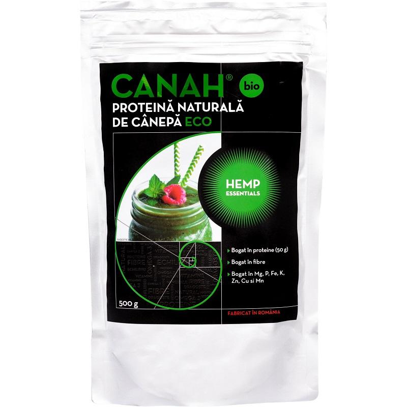 Pudra proteica de canepa ECO, 500g, Canah drmax.ro
