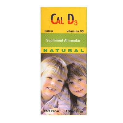 Sirop cu calciu si Vitamina D3, 150 ml, Natural Pharmaceuticals drmax.ro