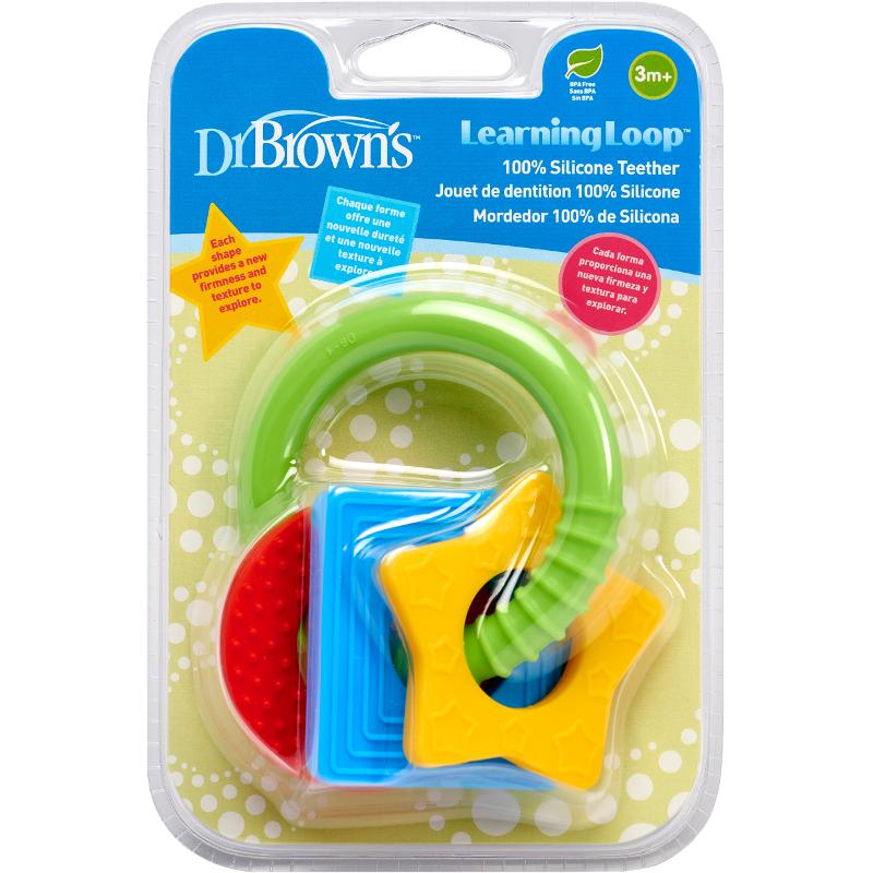 Jucarie de dentitie in forma de figuri geometrice, 1 bucata, Dr. Brown's drmax.ro