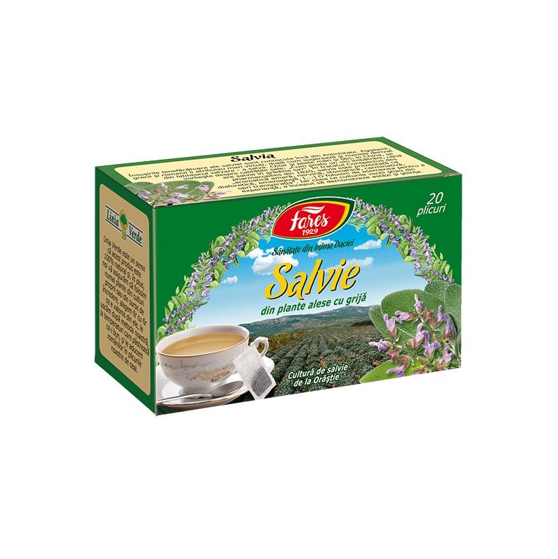 Ceai de Salvie, 20 plicuri, Fares drmax.ro