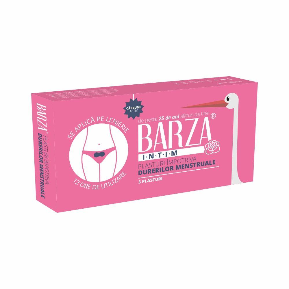 Plasturi impotriva durerilor menstruale, 3 bucati, Barza drmax.ro