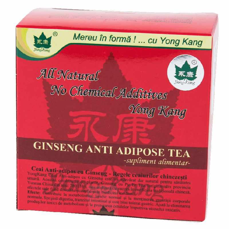 Ceai antiadipos cu Ginseng, 30 plicuri, Yong Kang drmax.ro