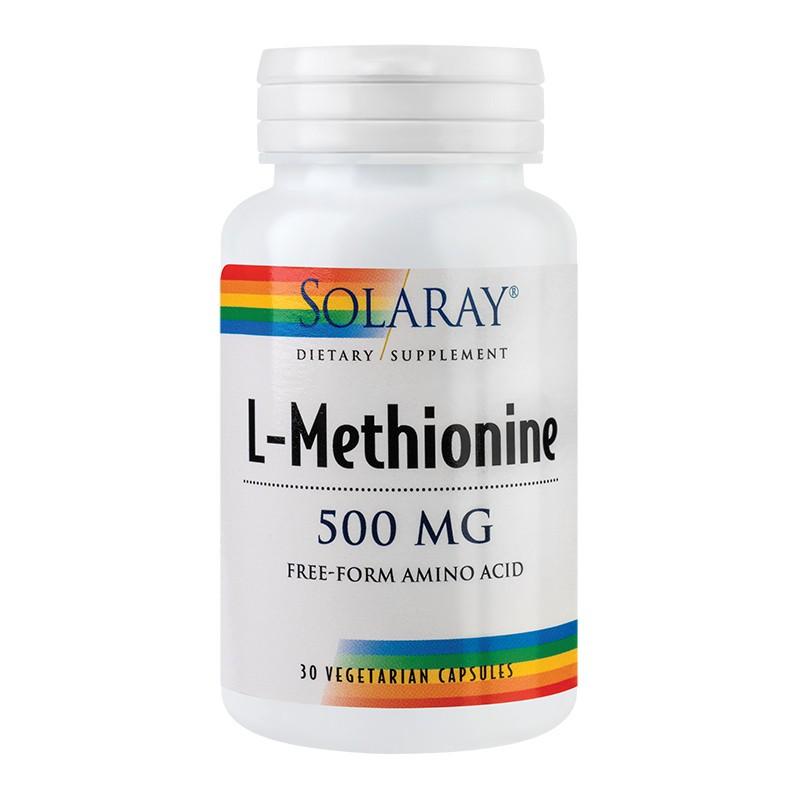 L-Methionine 500mg Solaray, 30 capsule, Secom imagine produs 2021