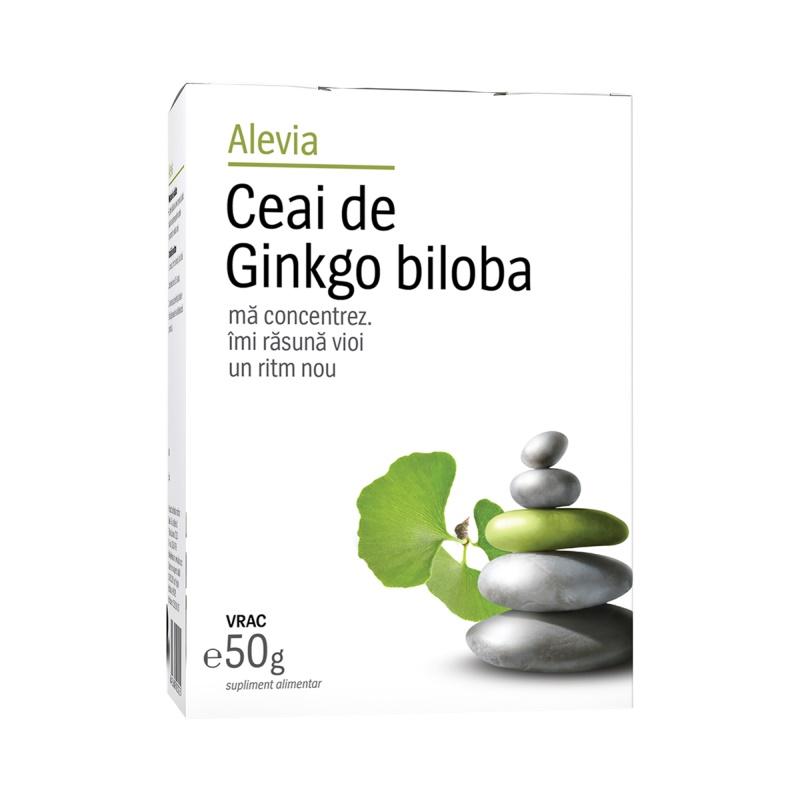 Ceai de Ginkgo biloba, 50g, Alevia imagine produs 2021