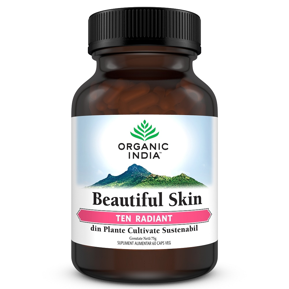 Beautiful Skin Ten Radiant, 60 capsule, Organic India drmax.ro