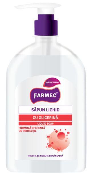 Sapun lichid antibacterian cu glicerina, 500ml, Farmec drmax poza