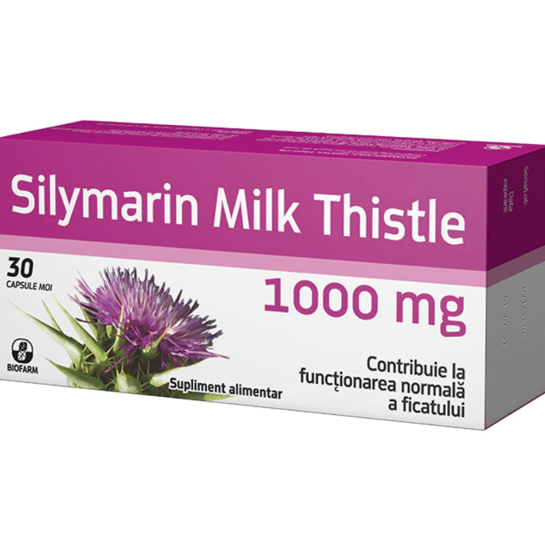 Silymarin Milk Thistle, 30 capsule, Biofarm drmax.ro