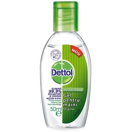 Gel antibacterian dezinfectant pentru maini, 50ml, Dettol drmax poza