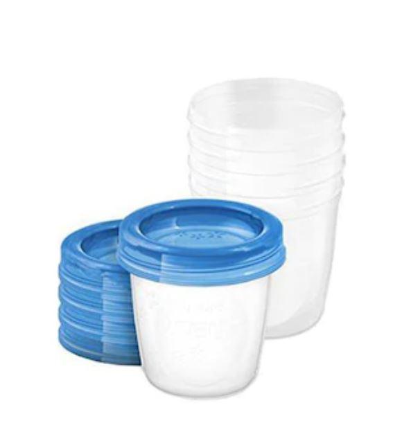 Set 5 recipiente pentru stocarea laptelui SCF619/05, 5x180ml, Philips Avent imagine produs 2021