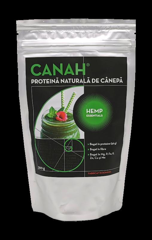 Pudra proteica de canepa, 300g, Canah drmax.ro