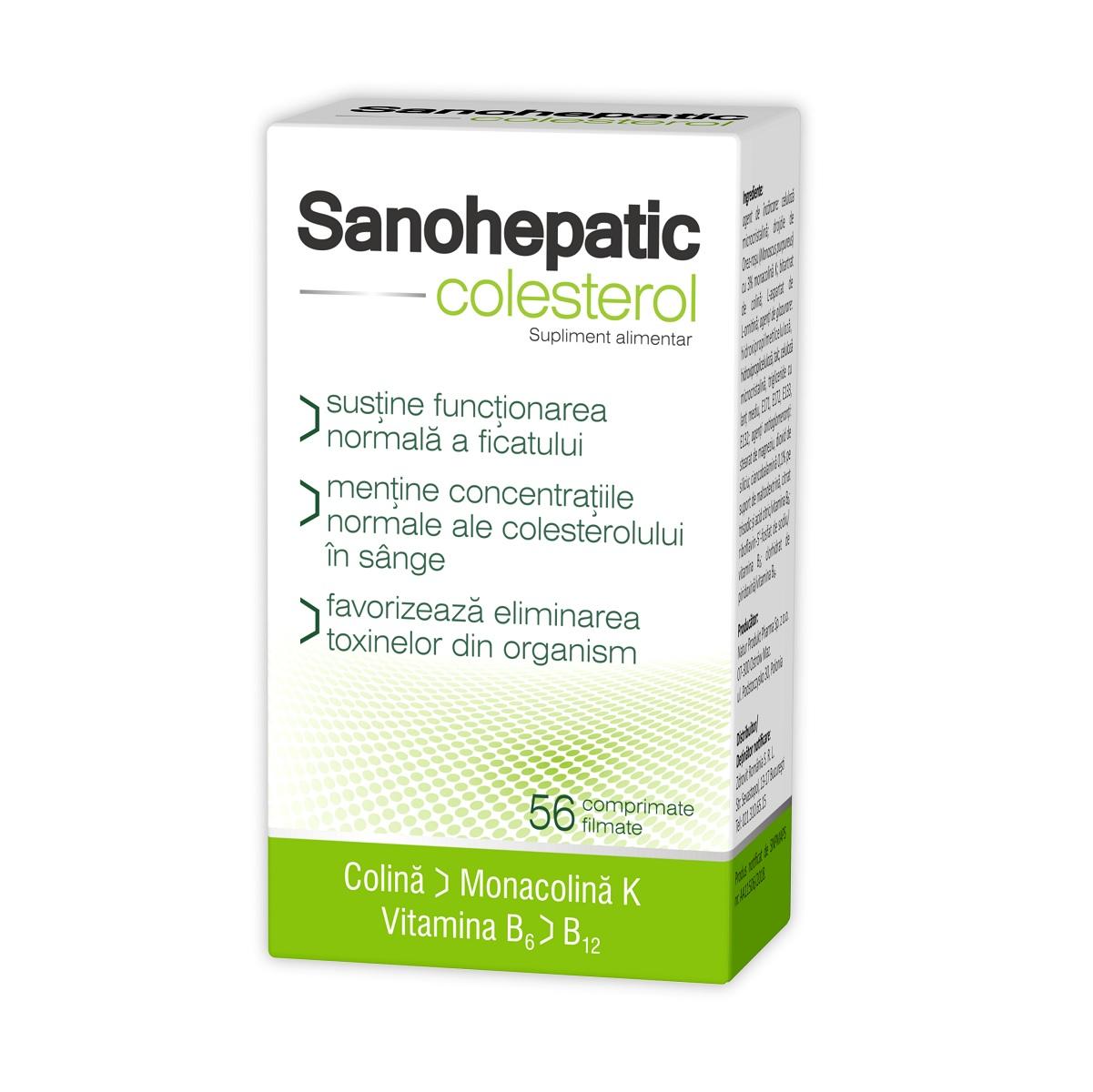 Sanohepatic Colesterol, 56 comprimate, Zdrovit imagine produs 2021