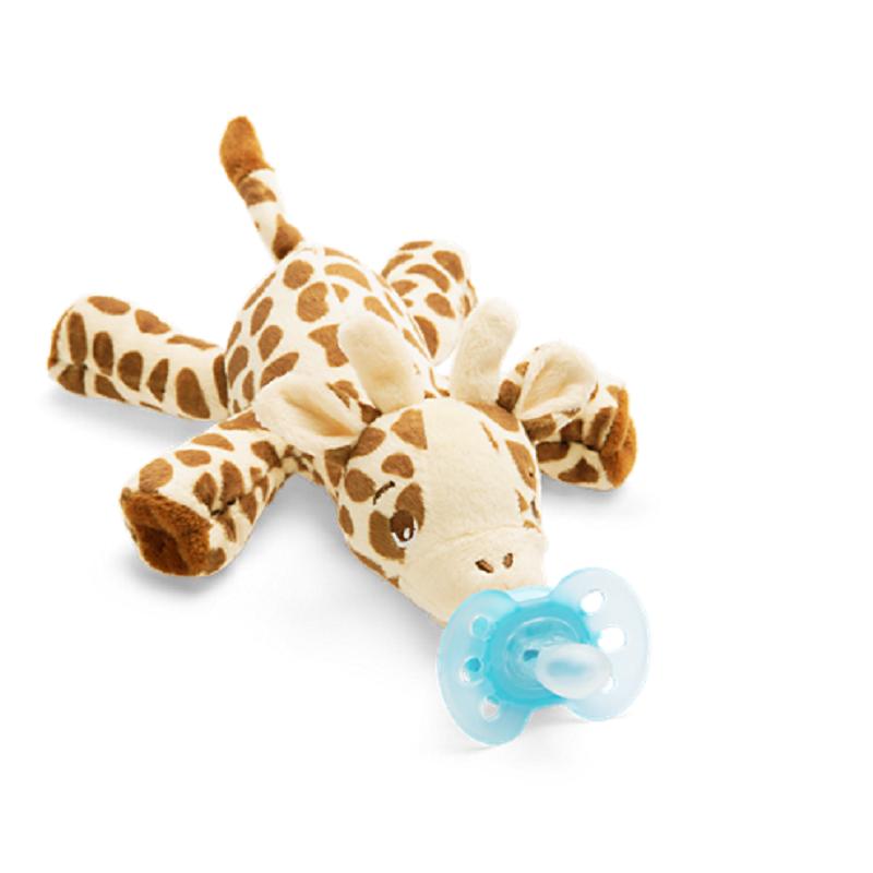 Jucarie de plus Girafa cu Suzeta Ultra Soft 0-6 luni, 1 bucata, Philips Avent imagine produs 2021