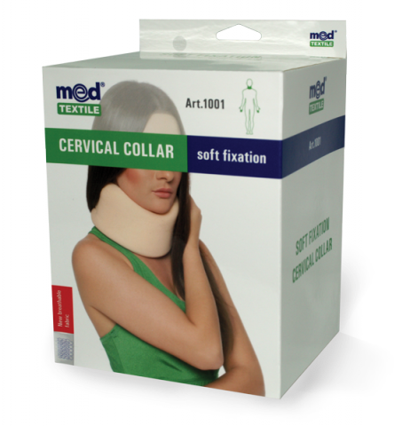 Guler cervical cu fixare usoara Nr. 3, 1 bucata, MedTextile drmax.ro