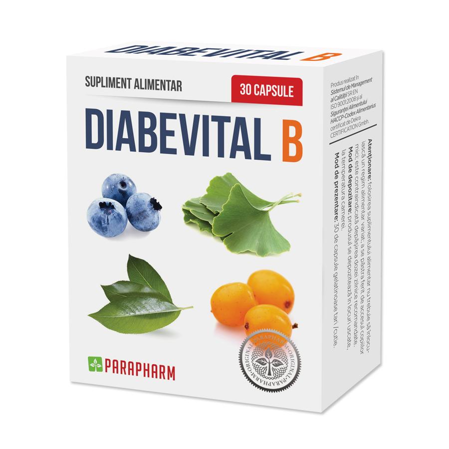 Diabevital B, 30 capsule, Parapharm imagine produs 2021