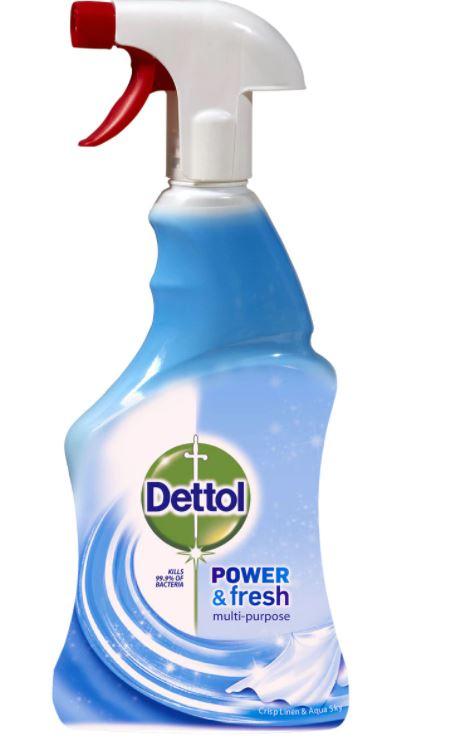 Spray dezinfectant multifunctional Crisp Linen & Aqua Sky, 500ml, Dettol drmax poza