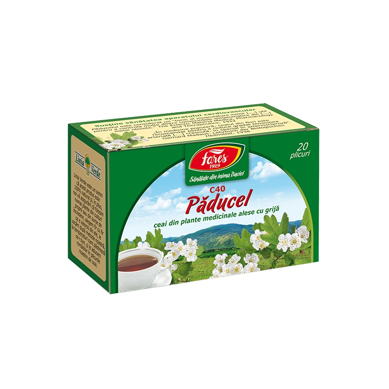 Ceai Paducel, 20 plicuri, Fares drmax.ro