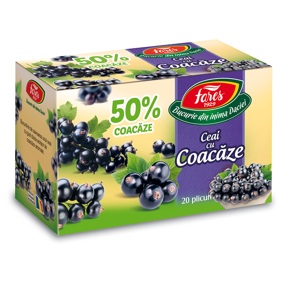 Ceai coacaze, 20 plicuri, Fares drmax.ro