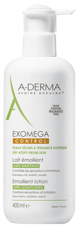 Lapte emolient Exomega Control, 400ml, A-Derma drmax.ro